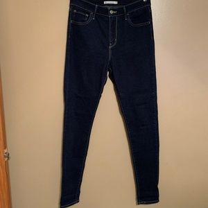 Levi's 720 High Rise Super Skinny Jeggings Size 29